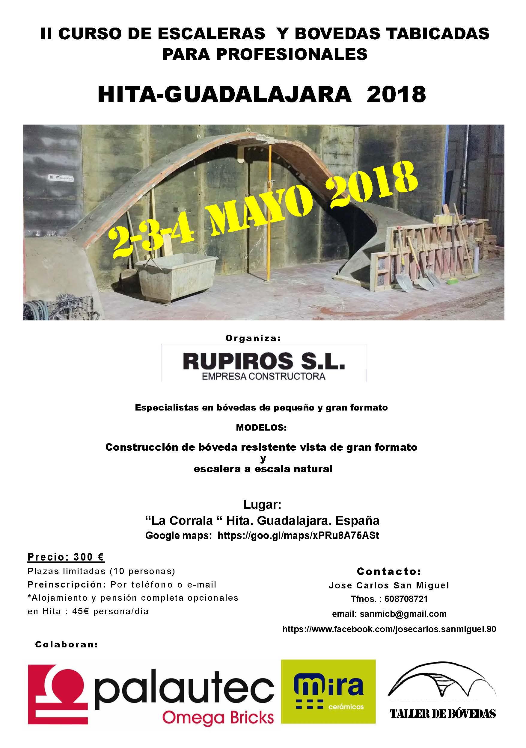 VII Taller de bóvedas tabicadas Guadalajara