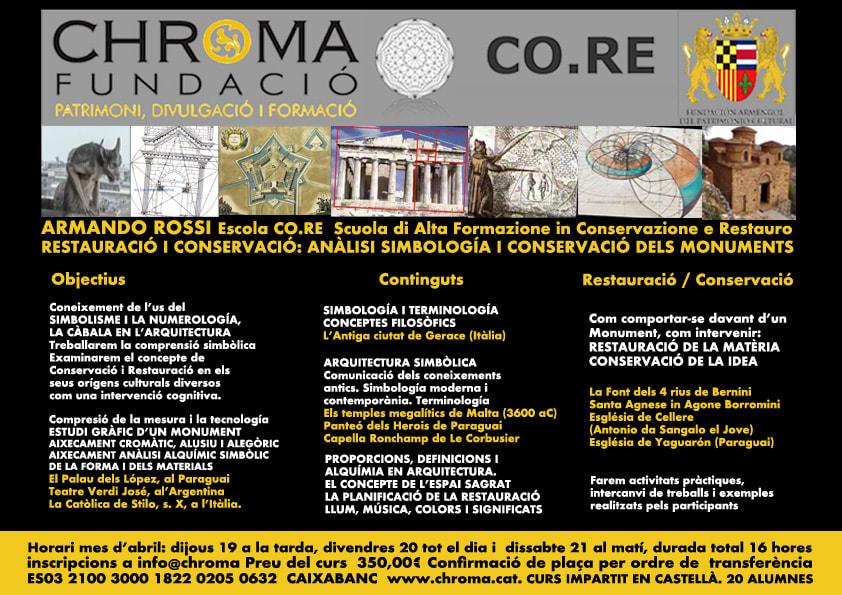 CHROMA: Curs sobre ANÀLISI, SIMBOLOGIA I COMPRENSIÓ DELS MONUMENTS