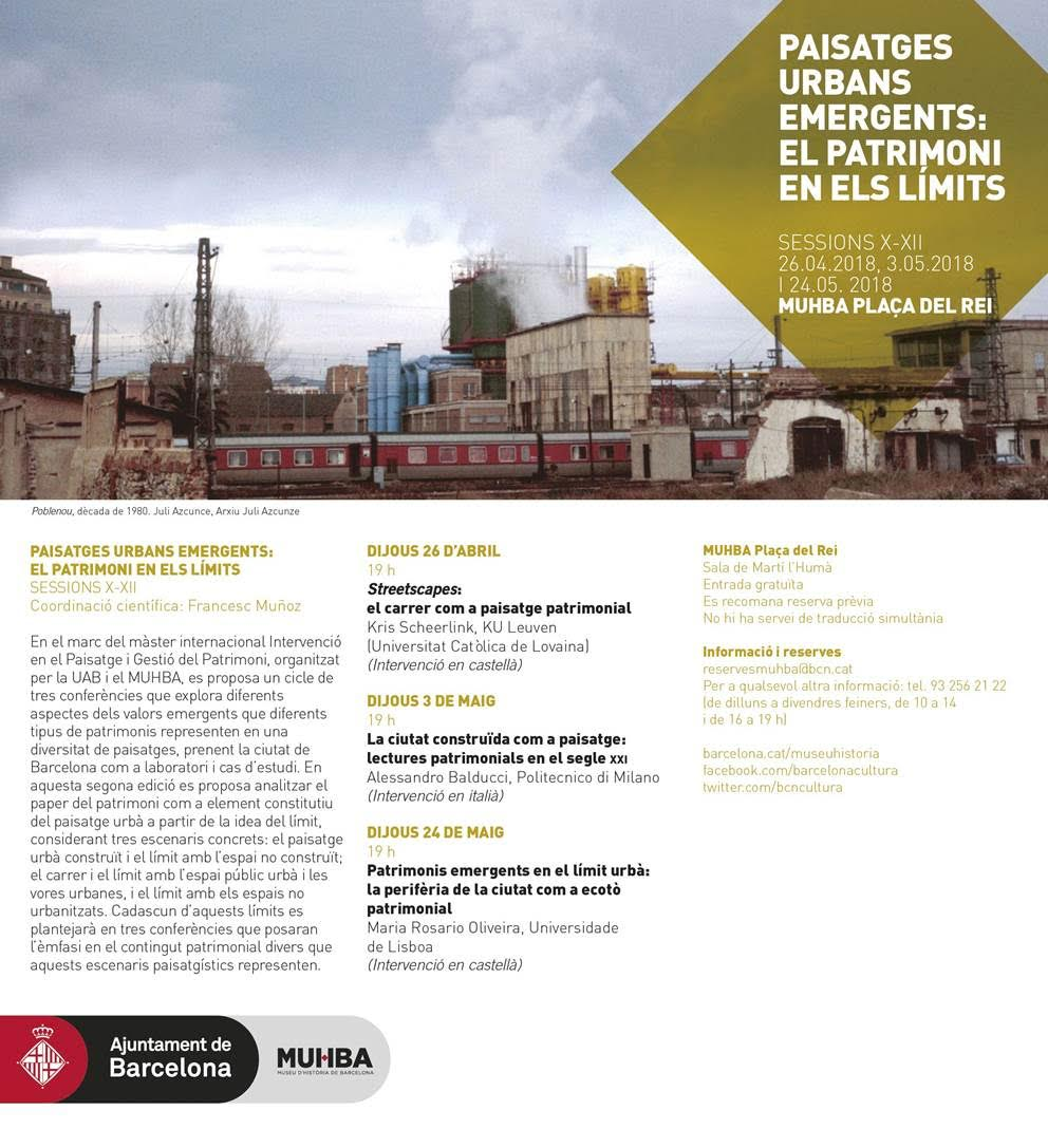 Paisatges urbans emergents: el patrimoni en els límits