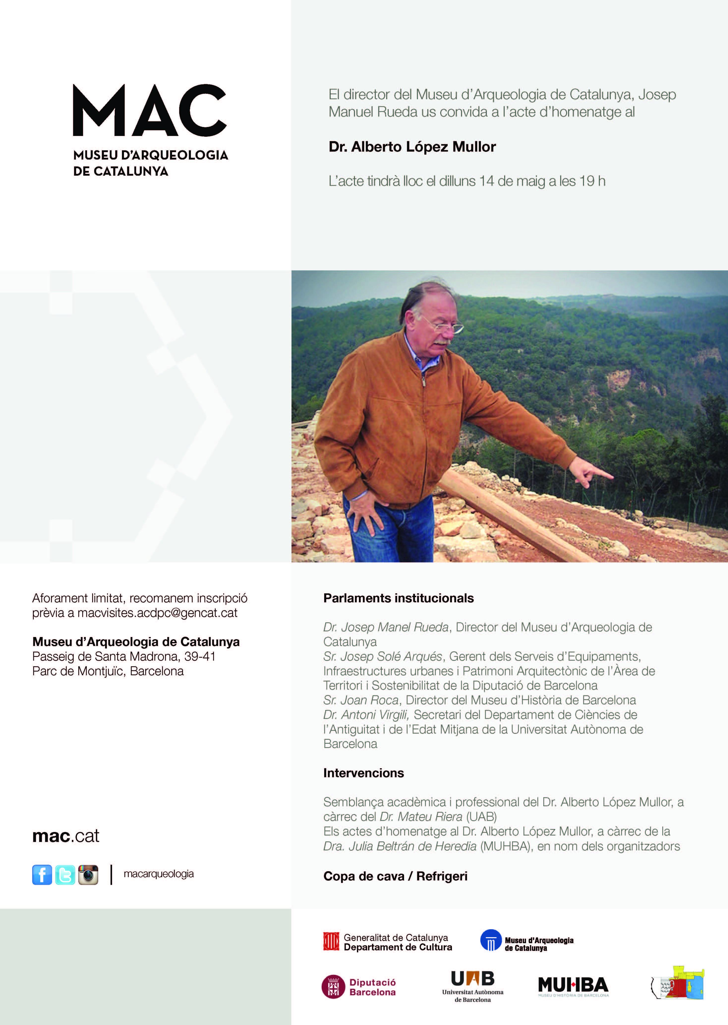 MAC: Acte d'Homenatge al Dr. Alberto López Mullor