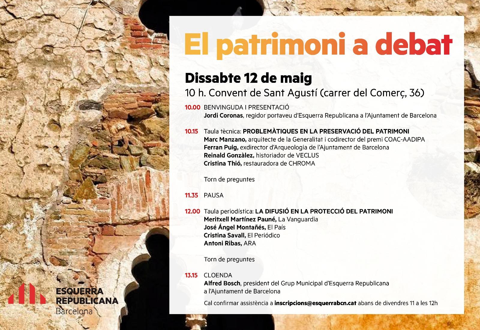 ERC: Jornada 'El patrimoni a debat'