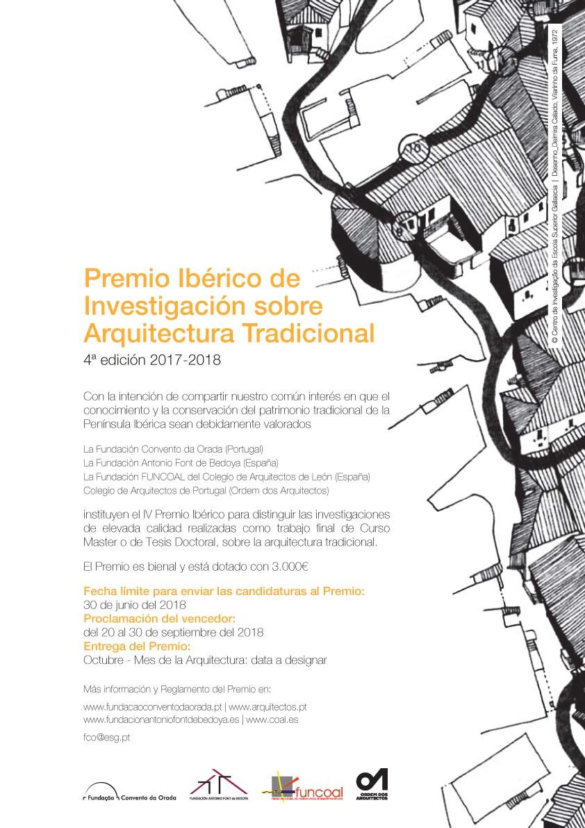 4º EDICION PREMIO IBÉRICO DE INVESTIGACIÓN SOBRE ARQUITECTURA TRADICIONAL