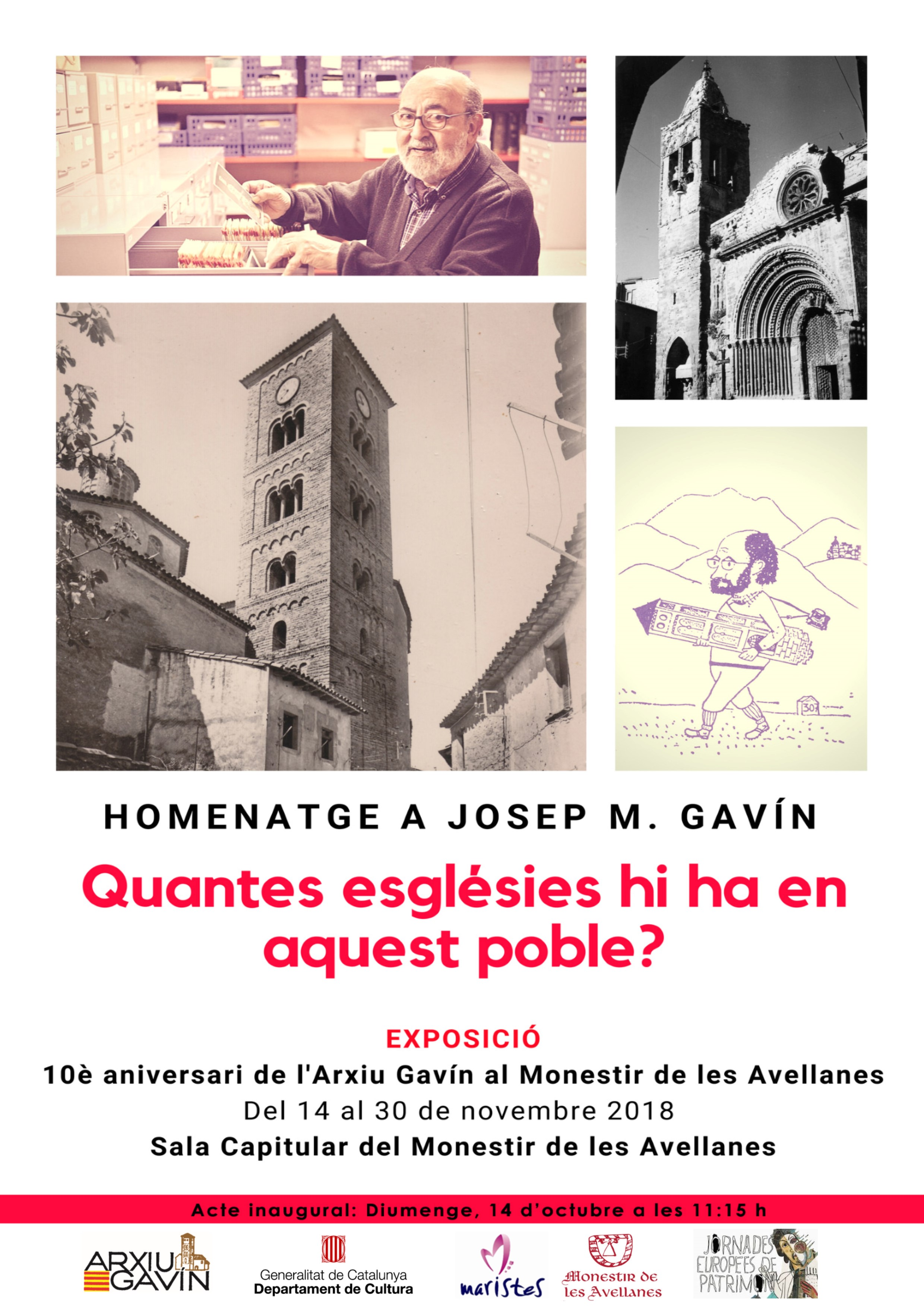 10è aniversari de l'Arxiu Gavín al Monestir de les Avellanes