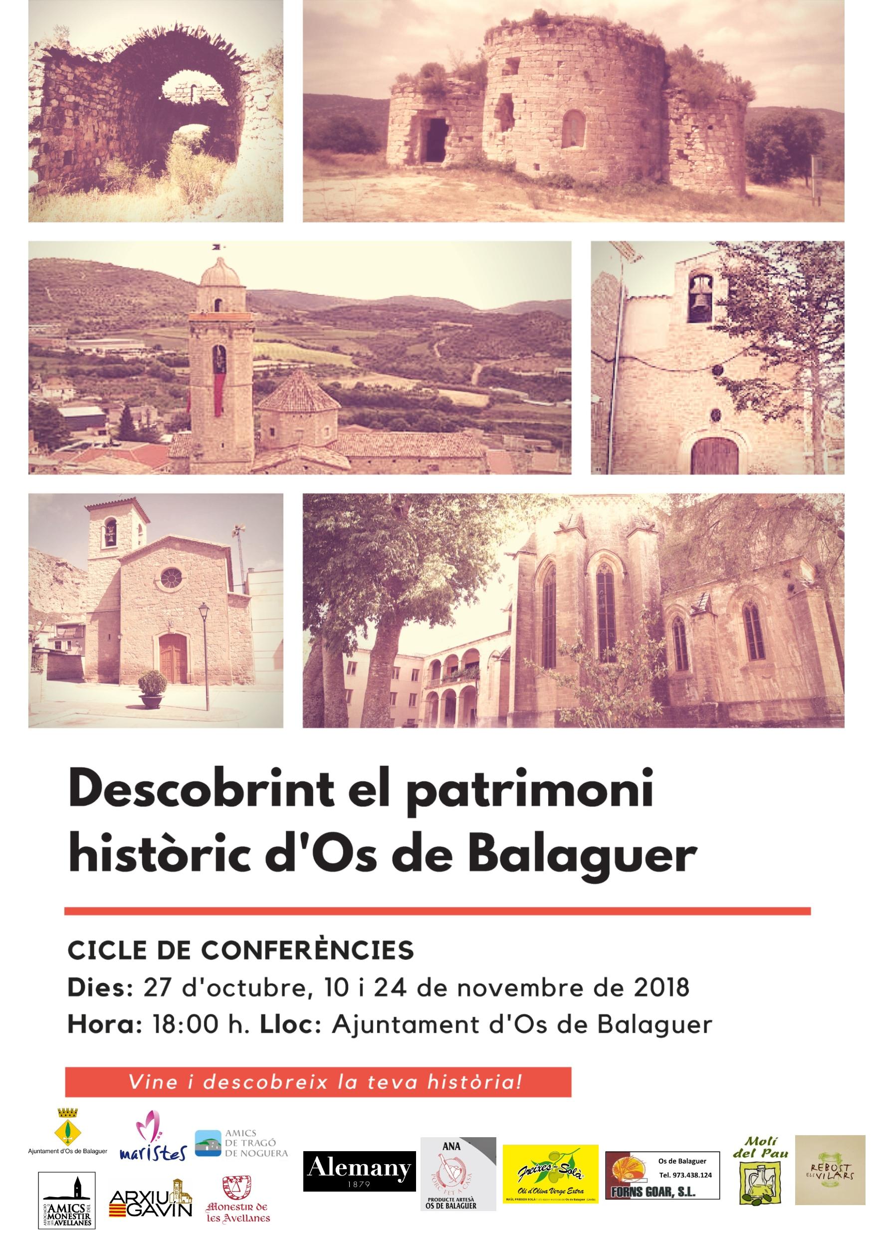 """Cicle de conferències """"Descobrint el patrimoni històric d'Os de Balaguer"""""""