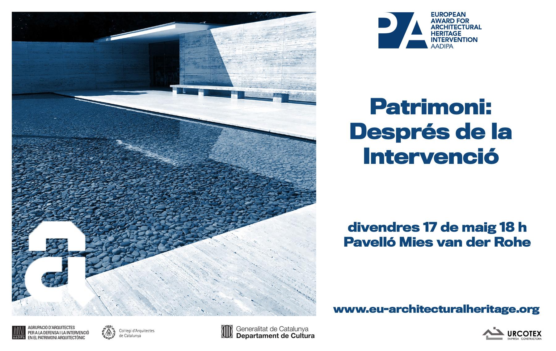 El Premi i el patrimoni arquitectònic, a la Setmana d'Arquitectura 2019